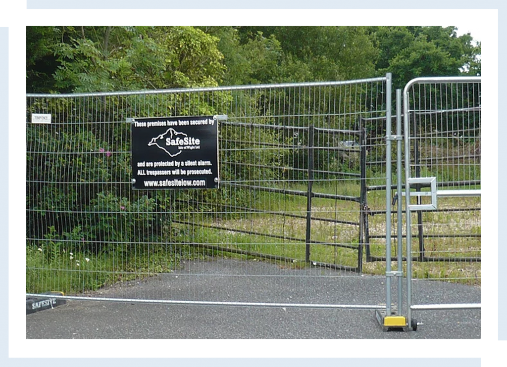 building site security fences isle of wight